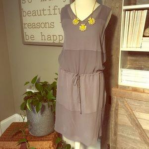 Elie Tahari 2 in 1 gray dress